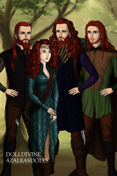 Merida And Her Brothers All Grown Up By Sleepingstar