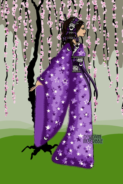A Purple Sky Kimono (for EE\'s World Fas ~ This is a kimono, a traditional Japanese