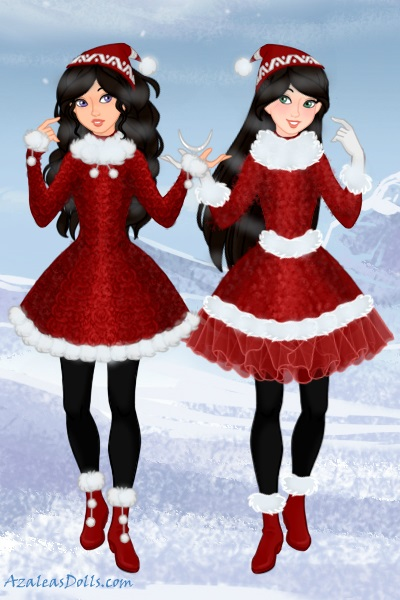 ~Happy Holidays~ ~ From my OC Kasumi (left) and I (right).