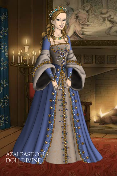catherine howard blue  u0026 silver dress