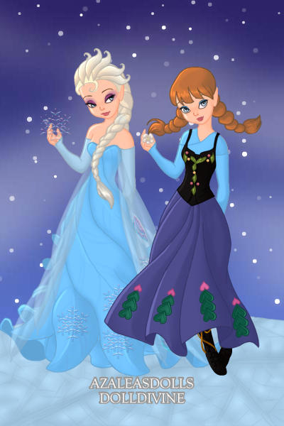 Elsa Amp Anna From Frozen By Ladyaquanine