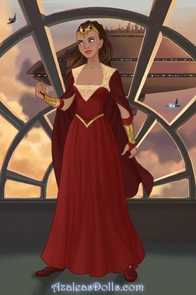 Gwen Red Queen Dress ~