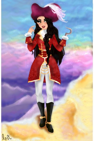 jovana hook (fem!captain hook) ~ (screams bloody murder and pushes Smee's