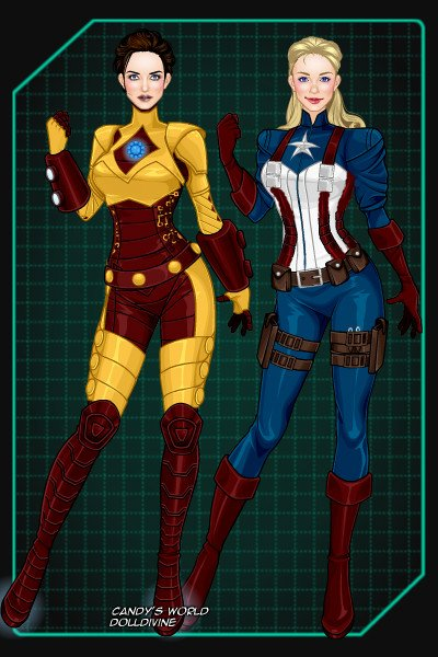 Iron Man & Captain America ~ (Rule 63 version)  Probably my biggest O