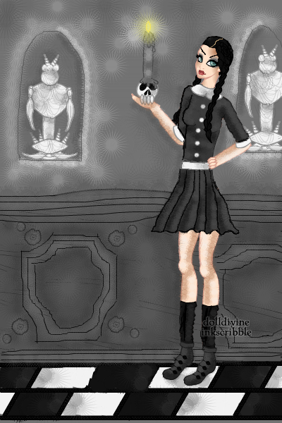 Wednesday Addams ~ gift for an irl friend. ANYWAY. idk abou