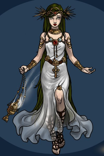 Palutena ~ i mean obviously this isnt her exact des