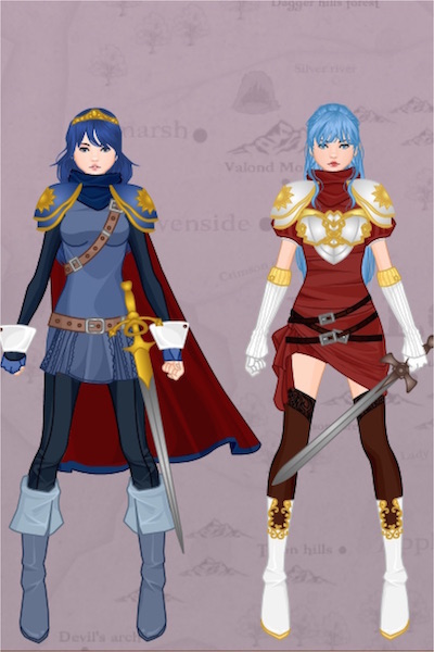 The Descendent and The Wife ~ ....of the Hero King Marth xD so here we