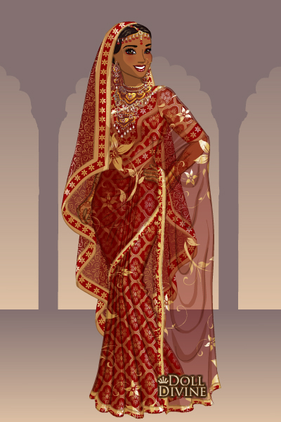 Indian Bride ~ For pigobest's The Right Dress: Wedding