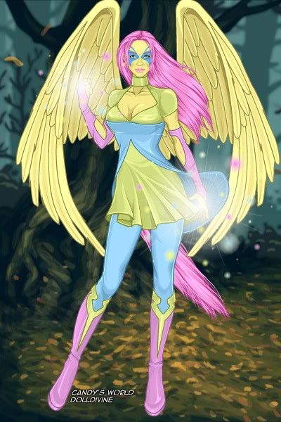 Superheroine Fluttershy ~ Here's superheroine Fluttershy! She is a