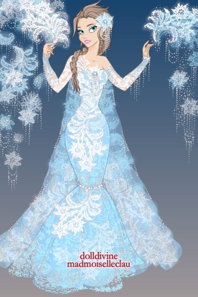 The Princess of Ice... ~ The first and LAST doll I make in this m