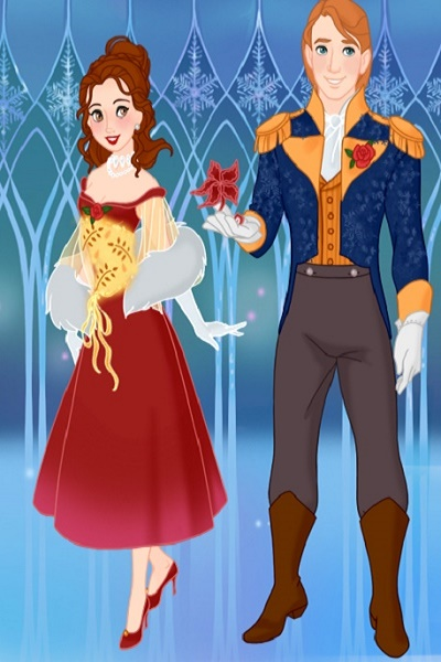 A Royal Christmas Ball.Belle And Adam At The Royal Christmas Ball In Arendell By