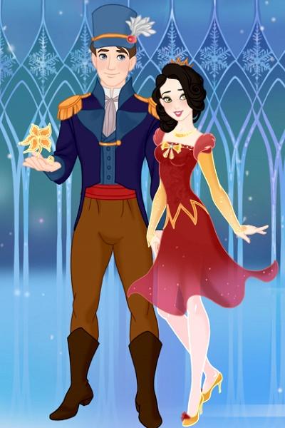 A Royal Christmas Ball.Snow White And Prince Charming At The Royal Christmas Ball