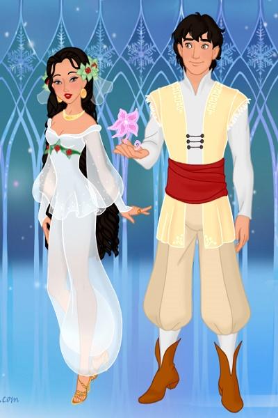 A Royal Christmas Ball.Jasmine And Aladdin At The Royal Christmas Ball In Arendell