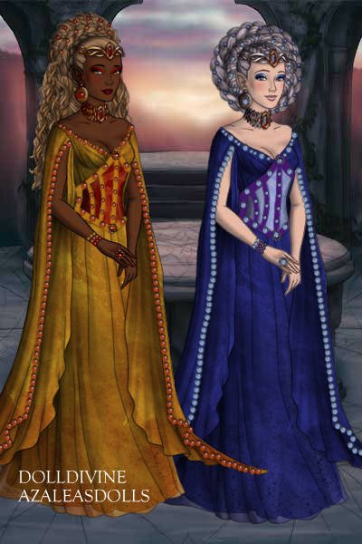 Sun and Moon Elf Goddesses ~ They control the light and darkness.