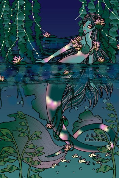 Monet\'s Water Lilly Mermaid ~