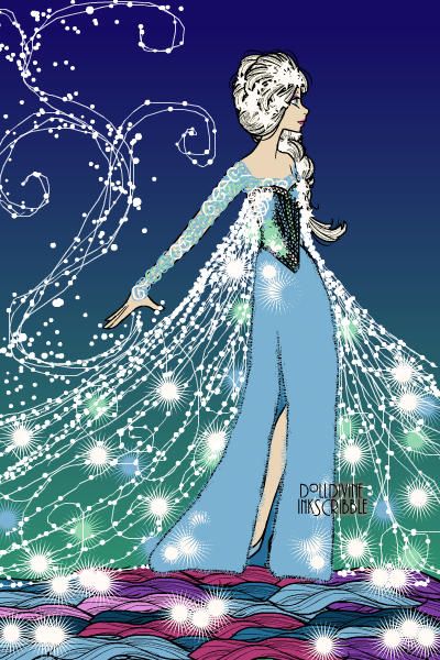 The Queen of Ice ~ Tried to get her hair on Erte....think I