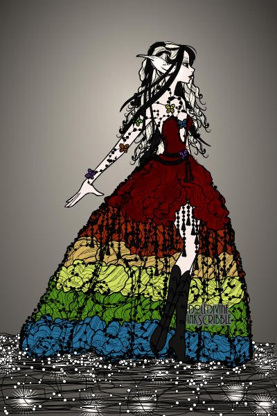 Voided ~ Vera is back with a new rainbow dress...