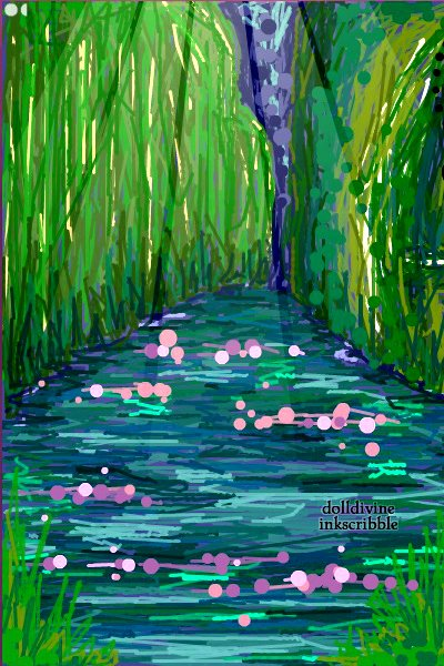 Water Lilies: Claude Monet Inspired ~ So, yes, a Claude Monet inspired artwork