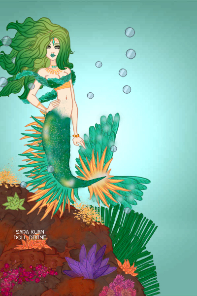 Emerald in the Sea ~ mermaid time :)