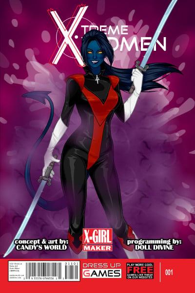 Genderbent Nightcrawler ~ by Lyris X Men Girl Creator