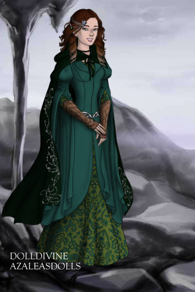 Dress design 5 - Exploring the Mountains ~ Aredhel requested a green colour scheme,