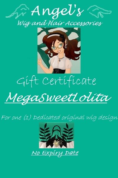 Gift Certificate for MegaSweetLolita ~ Feel free to redeem this certificate at