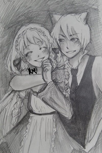 Astor and Diana (I DID NOT DRAW THIS, Pl ~ A picture my friend drew for another fri