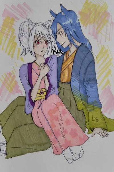 Yukiko and Sakkaku (I DID NOT DRAW THIS, ~ The first time she coloured with the spe