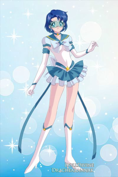 Eternal Sailor Mercury ~ tried out a matte bubble sleeve bottom.