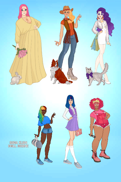 My Little Pony - Ensemble ~ The height differences are intended ^^