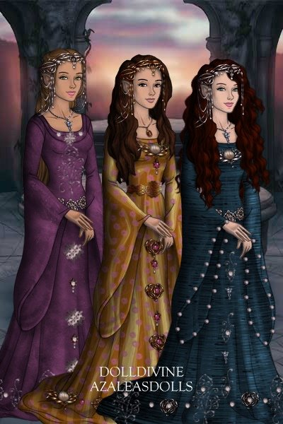 elves ~ left to right: Gloria, Sylvia, and Evali