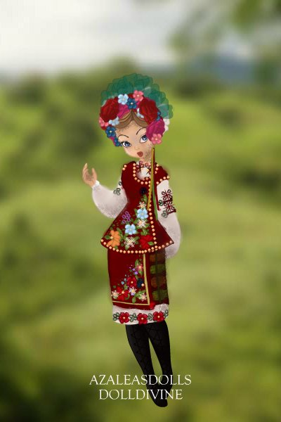 3 Week Contest, Week One: Ukrainian Folk ~ This week's theme was Countries, and I g