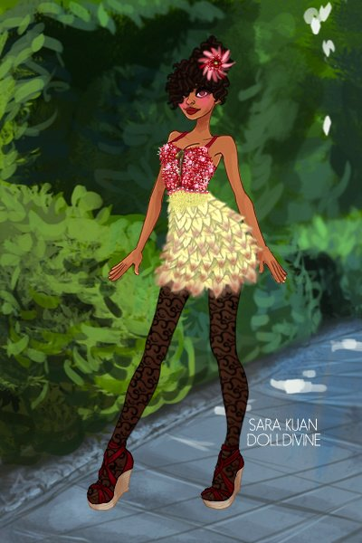 Project Runway: Week Two 1/2! ~ This week's theme was floral/plant, so I
