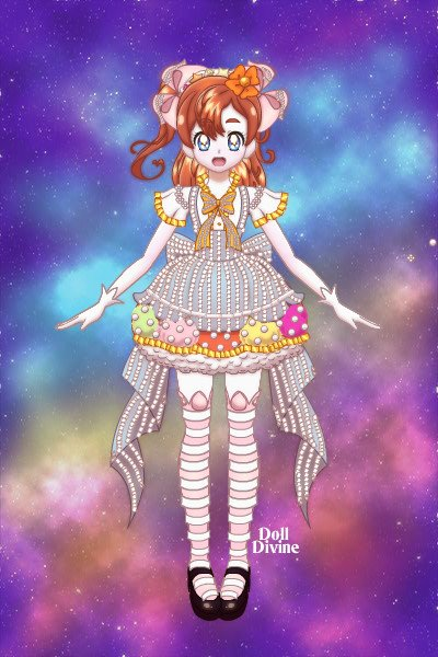 Candy Maid Honoka ~ I wanted to try making a Love Live chara