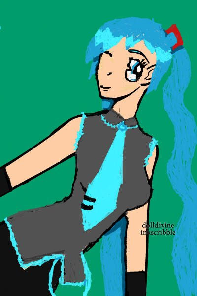 Hatsune Miku ~ Because I was bored. This turned out alo
