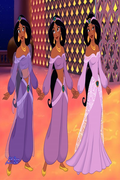 princess jasmine purple outfits