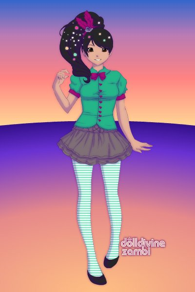Vanellope Von Schweetz ~ At least this is the best I could make h
