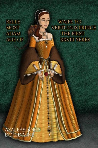 Disney S Belle As A Tudor Era Queen By Dolldivine