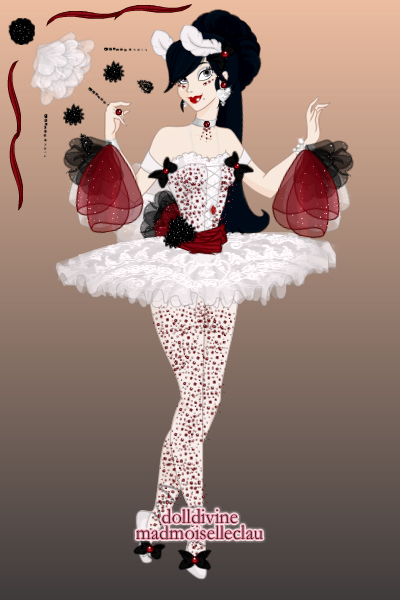 Bullfighter Ballerina ~ Once I put the feathers on her head I kn