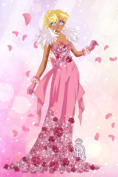Pink Rose Gown ~ Rose pattern insipered by @Frogotten #pi