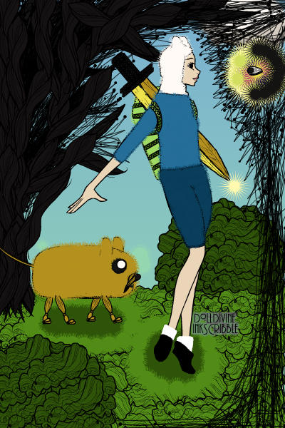 Finn & Jake from Adventure Time   (I lov ~ Oh shiz. I messed up on pattern on the b