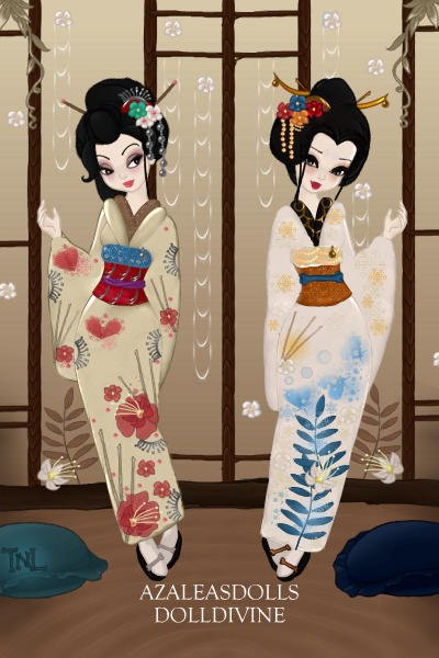 Geisha Fashion- The Light Kimono Collect ~ (These adoptables are only open to my CU