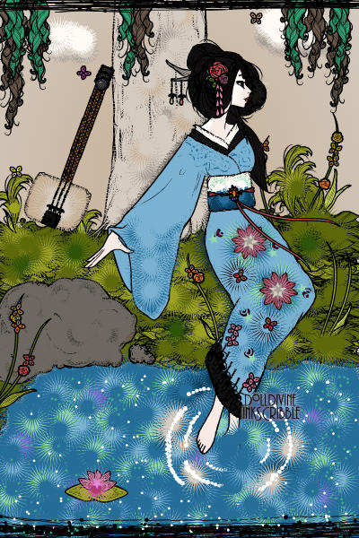 The Longing Geisha (For the lovely Kanan ~ When no ones around she enjoys wondering