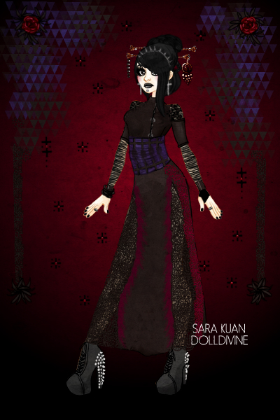 Chinese Chic - Goth {Adopted by lostinth ~ So I tried to add the Skull tattoo optio