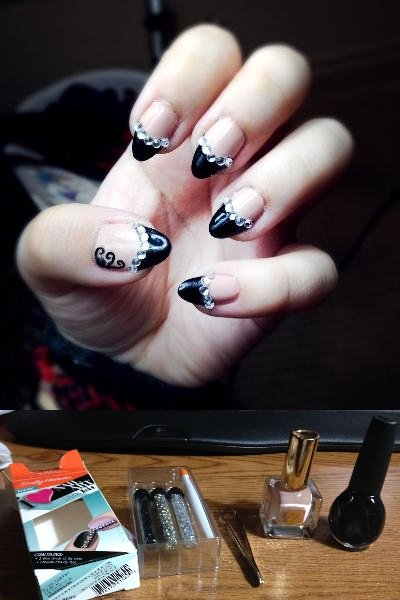 Late Night Nail Art: ♦ αℓℓ ℓα� ~ I think the blurred edges emphasize the