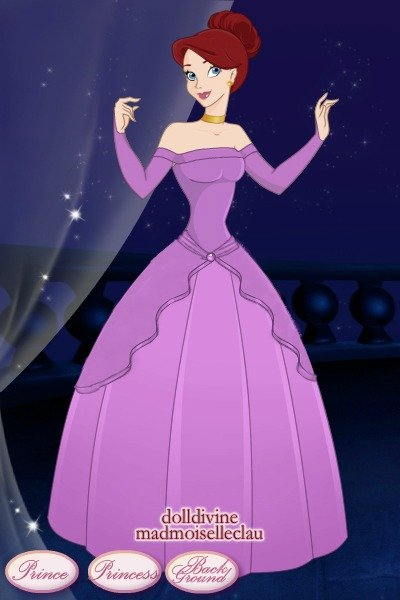Ariel in her purple gown ~ This was in the second movie in case you