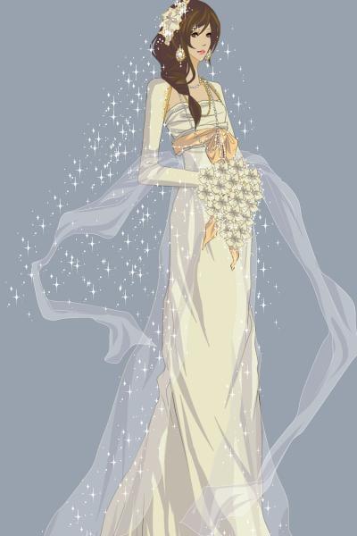 Mucha wedding dress. ~ by pigobest