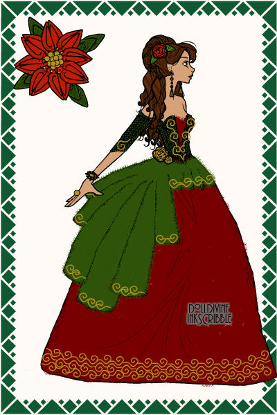 Christmas gown! ~ #Christmas #Poinsettia #Red #Gown
