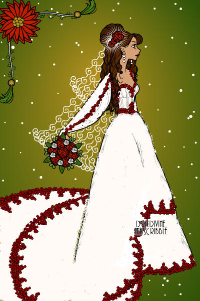 Christmas wedding! ~ #Christmas #Wedding #Bride #White #Red #