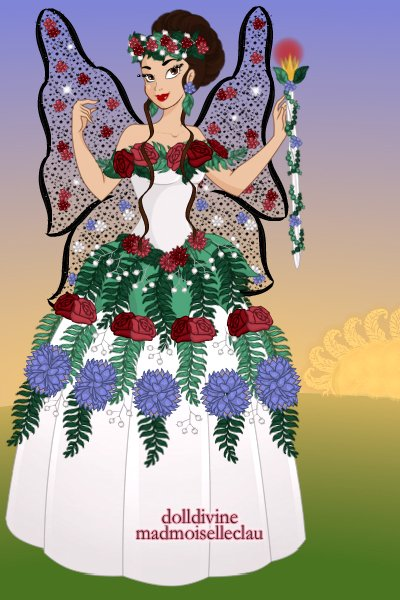 Queen Titania! ~ #Shakespeare #Queen #Flowers #Gown #Fair